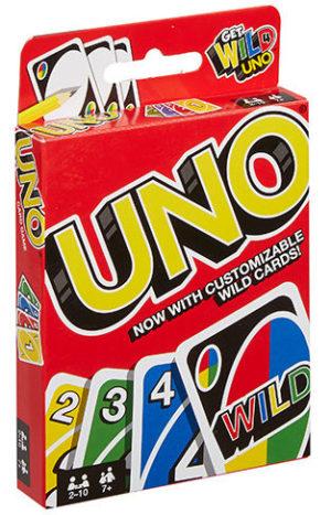 Embalagem Jogo de Mattel UNO